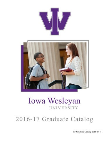 IW Graduate Catalog 2016-17   1