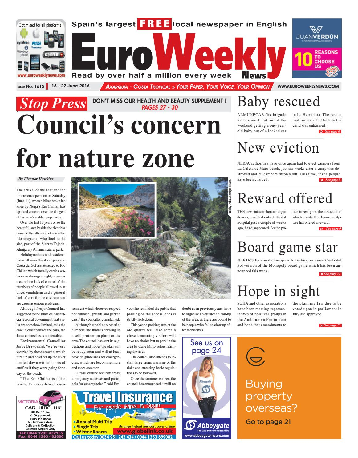 Euro Weekly News Axarquia 16 22 June 2016 Issue 1615 By Osage Warrior Ambulance Wiring Diagram Media Sa Issuu