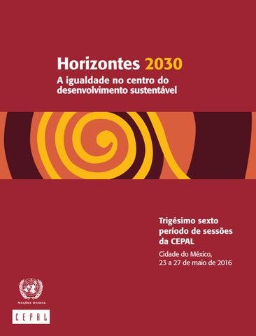 Horizontes 2030 a igualdade no centro do desenvolvimento page 1 fandeluxe Image collections