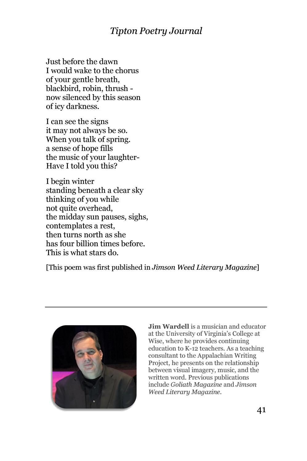 Tipton Poetry Journal #29 by Tipton Poetry Journal - issuu