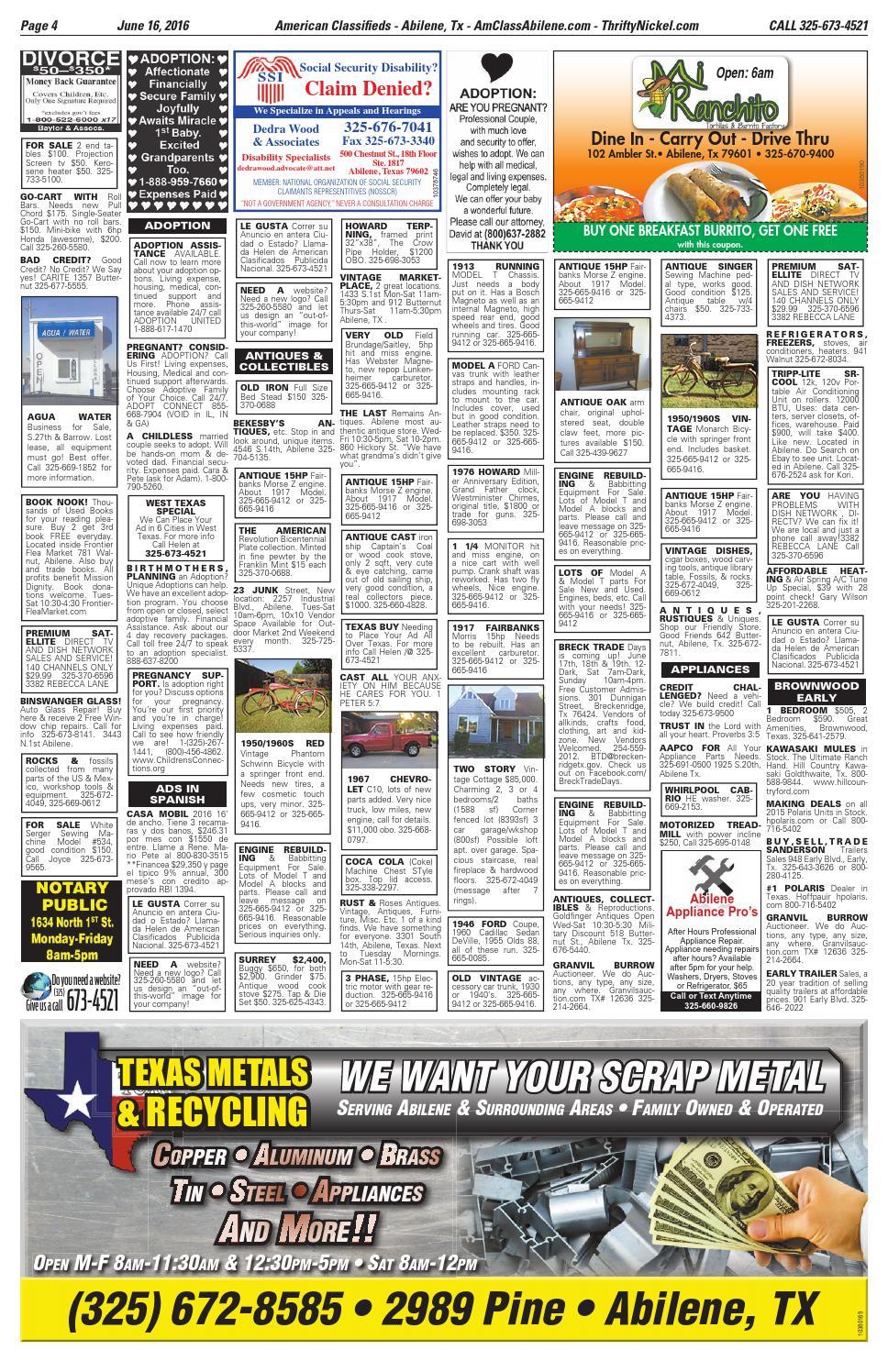 American Classifieds Abilene 06-16-16 by American