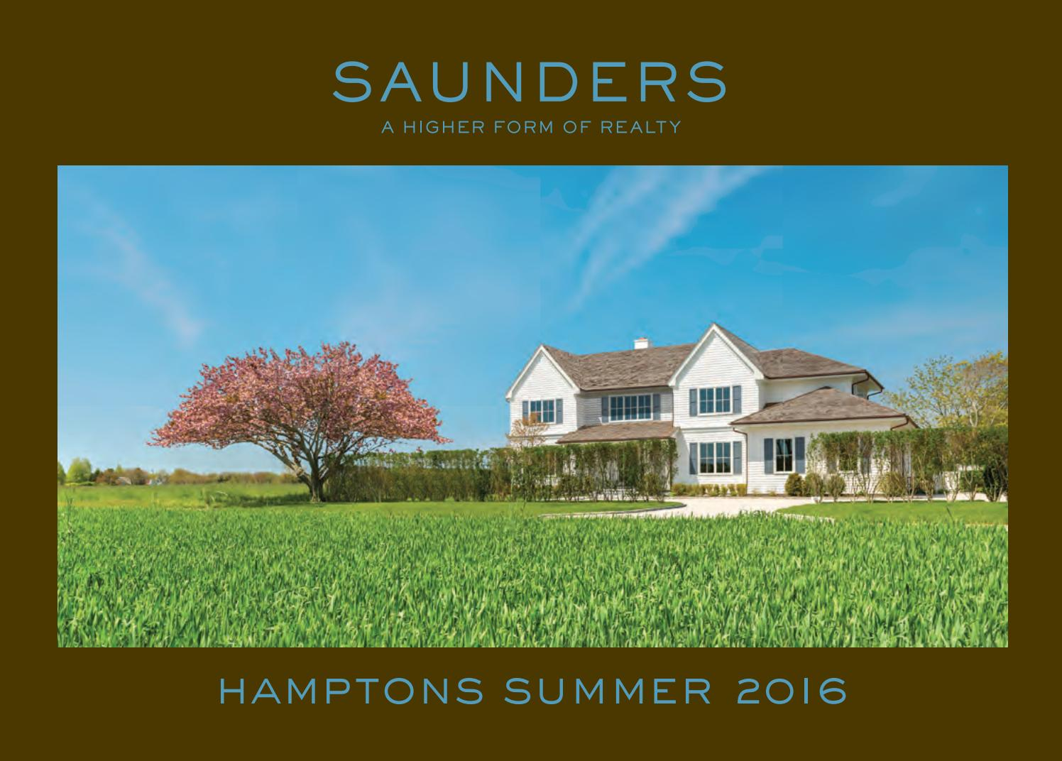 Hamptons Summer 2016 by Saunders & Associates - issuu