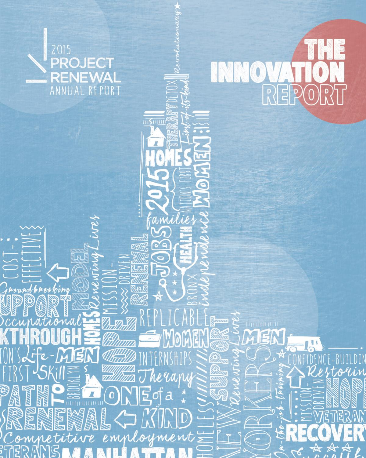 Project Renewal 2015 Annual Report by Project Renewal - issuu