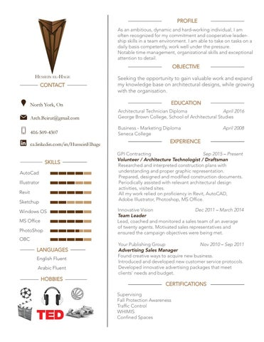 architectural technologist resume by hussein el hage issuu