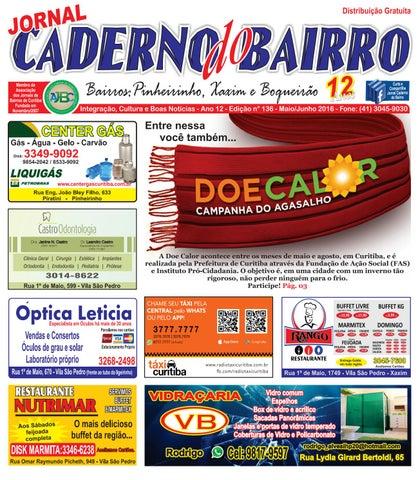 7b6e7280e Caderno Bairro Xaxim, Boqueirão e Pinheirinho - maio/junho 2016 - Edição 135