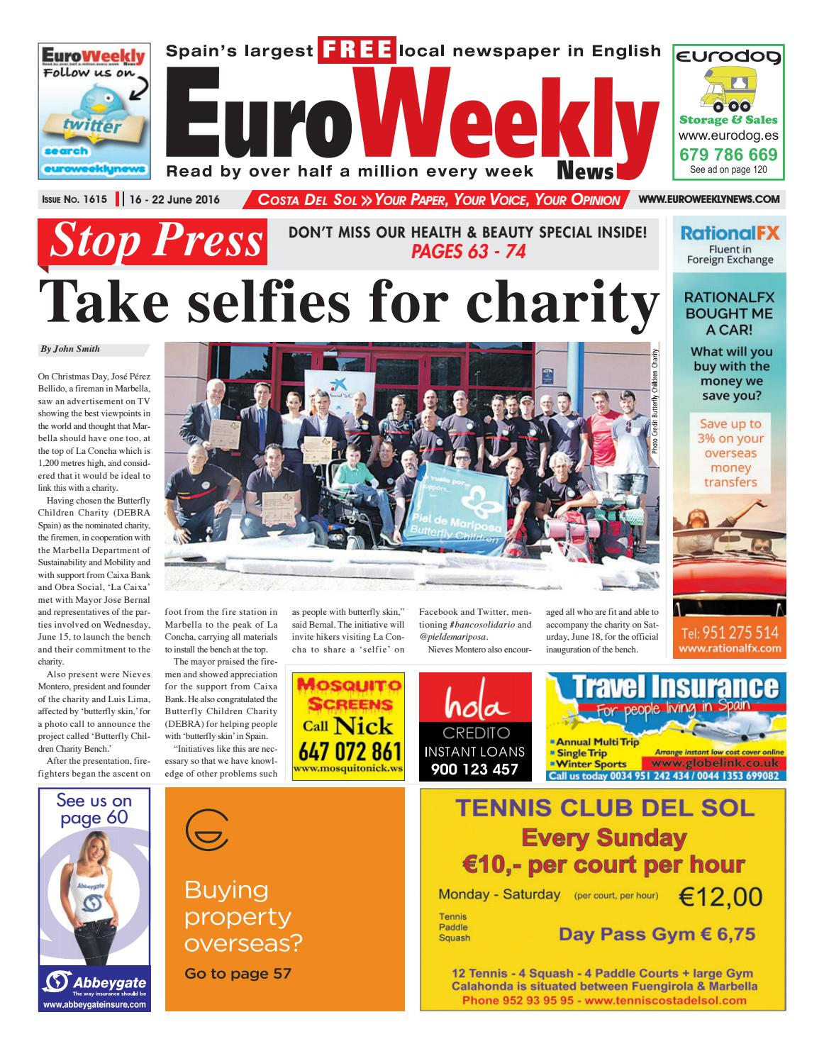 competitive price 19f9c f4e4f Euro Weekly News - Costa del Sol 16 - 22 June 2016 Issue 1615 by Euro  Weekly News Media S.A. - issuu