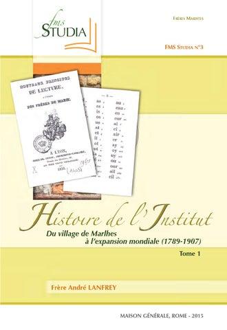 Histoire De LInstitut Tome 1 By Hermanos Maristas