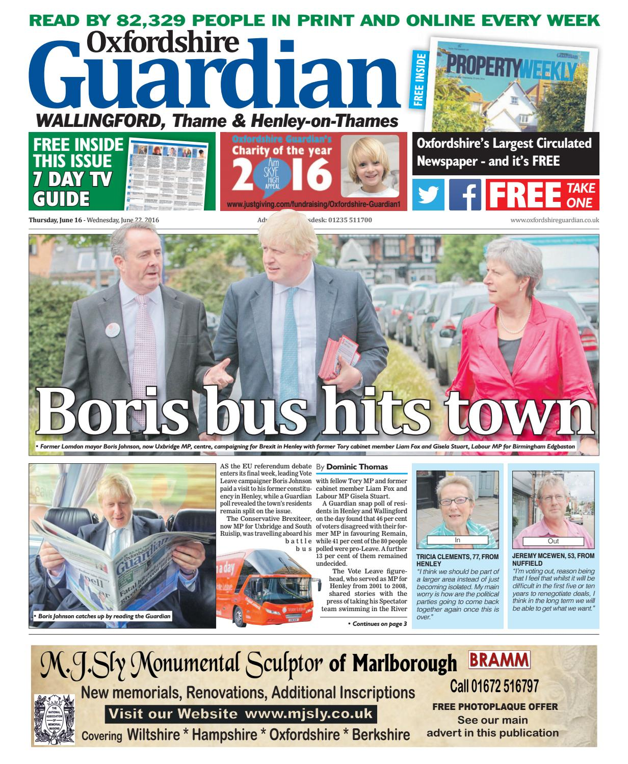 949acd0a5f8 16 june 2016 oxfordshire guardian wallingford by Taylor Newspapers ...