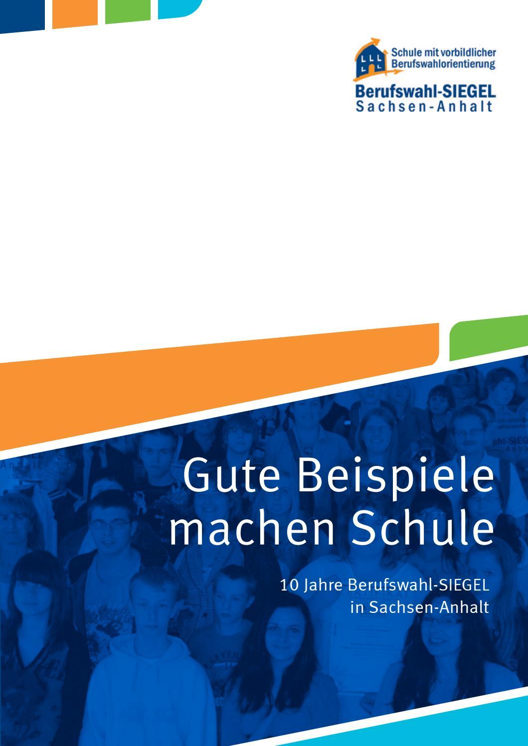 10 Jahre Berufswahl-SIEGEL Sachsen-Anhalt by ...
