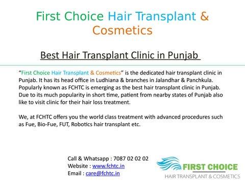 Latest Hair Transplant Surgeries done at First Choice Hair Transplant  Clinic, Punjab