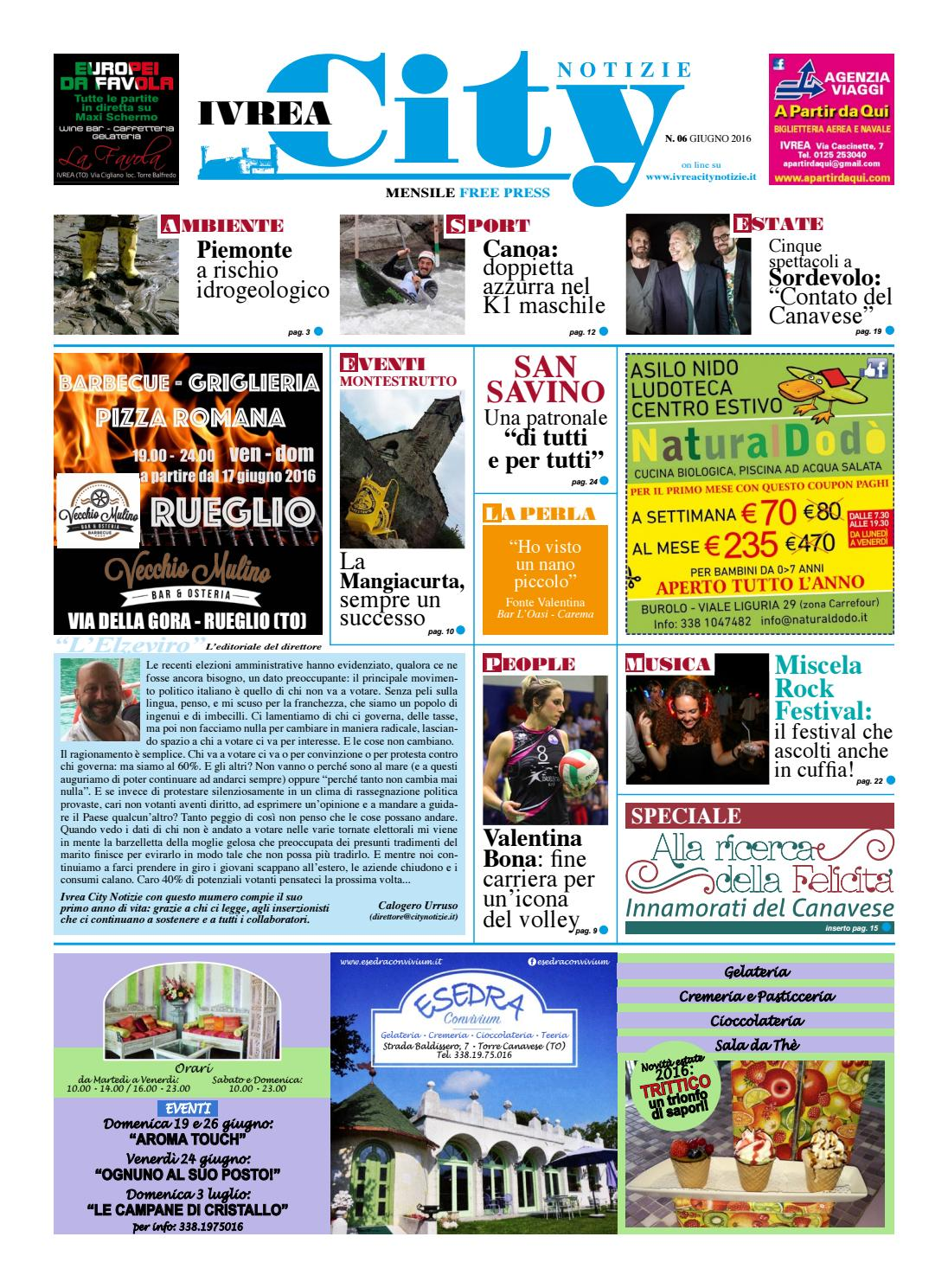 06349644fb IVREA CITY NOTIZIE 06 2016 by Calogero Urruso - issuu