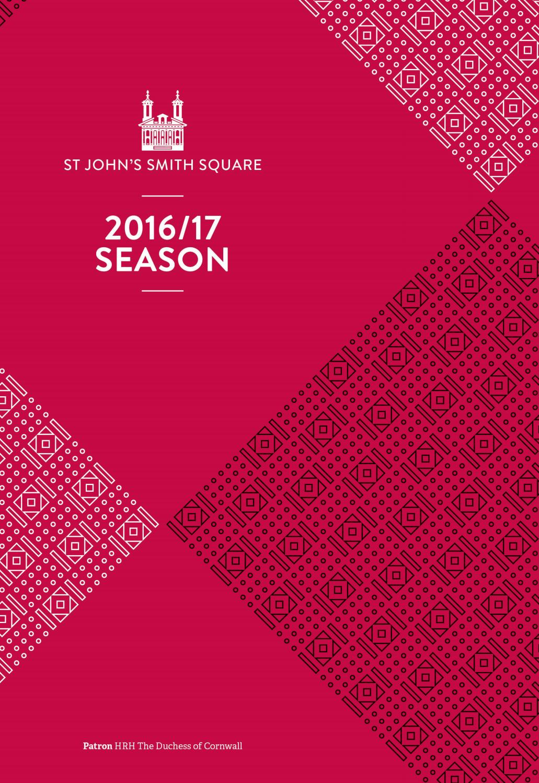 St John's Smith Square 2016/17 brochure
