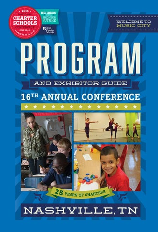 2016 national charter schools conference program book by national table of contents fandeluxe Image collections