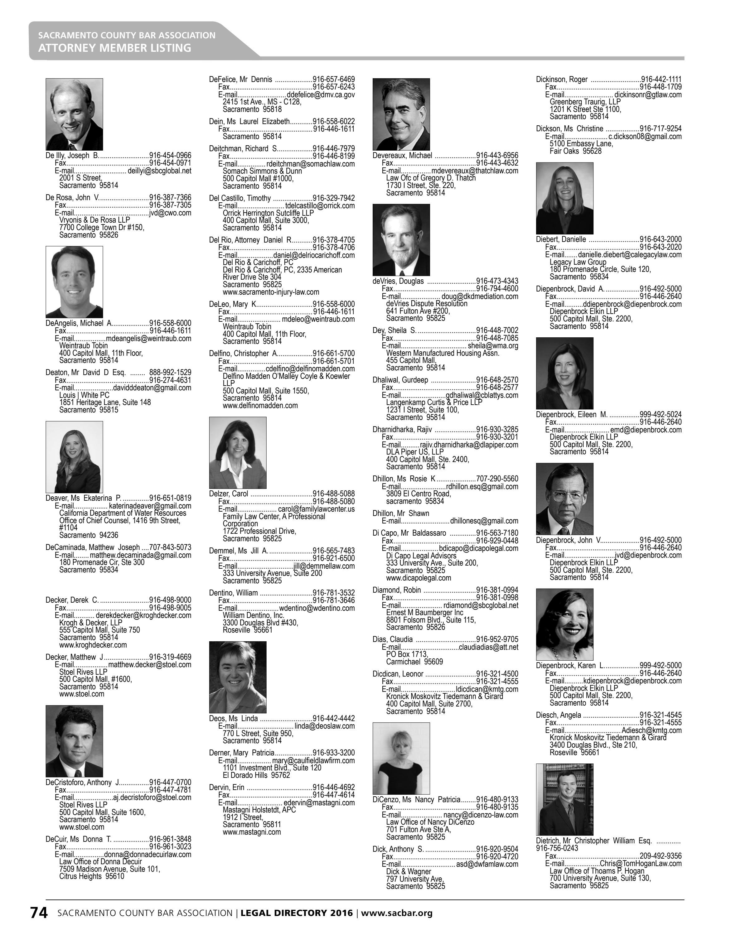 Sacramento County Bar Association Legal Directory 2106 By Delfit Issuu