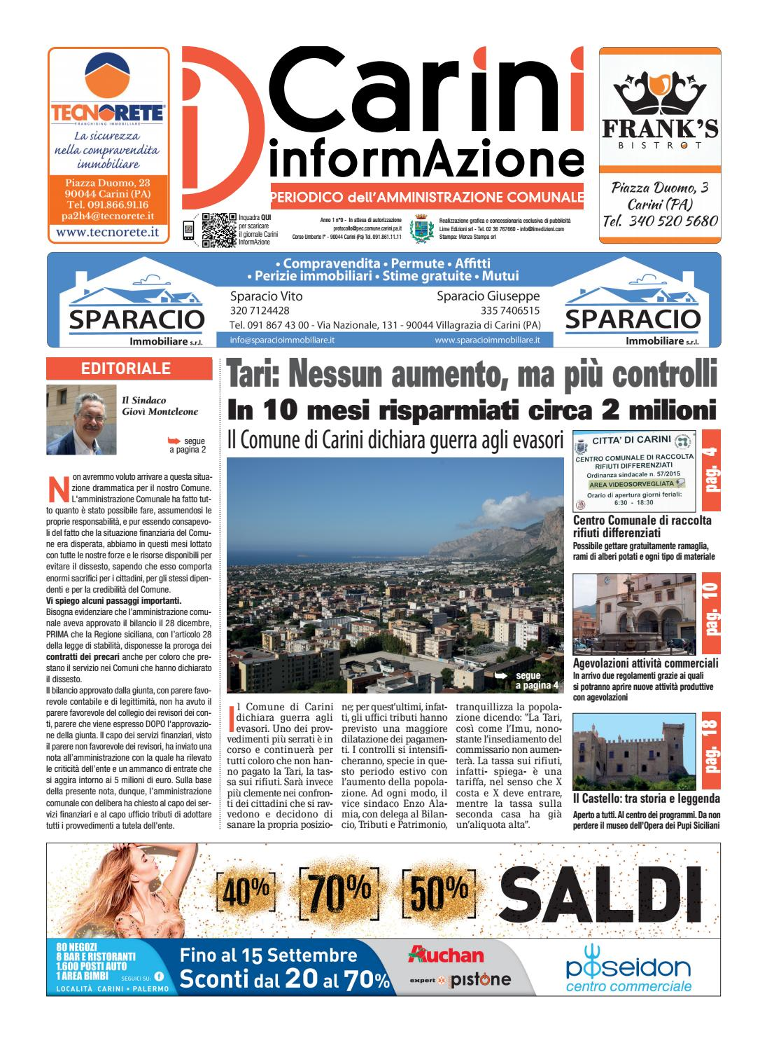 Carini giornale giugno 2016 Lime Edizioni by Lime Edizioni srl - issuu 13fb328ab9b2