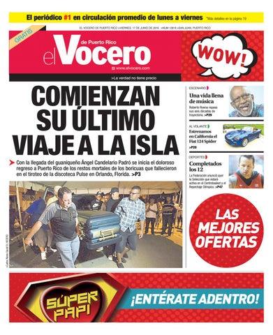 Edición 17 de Junio 2016 by El Vocero de Puerto Rico - issuu c930746e81c44