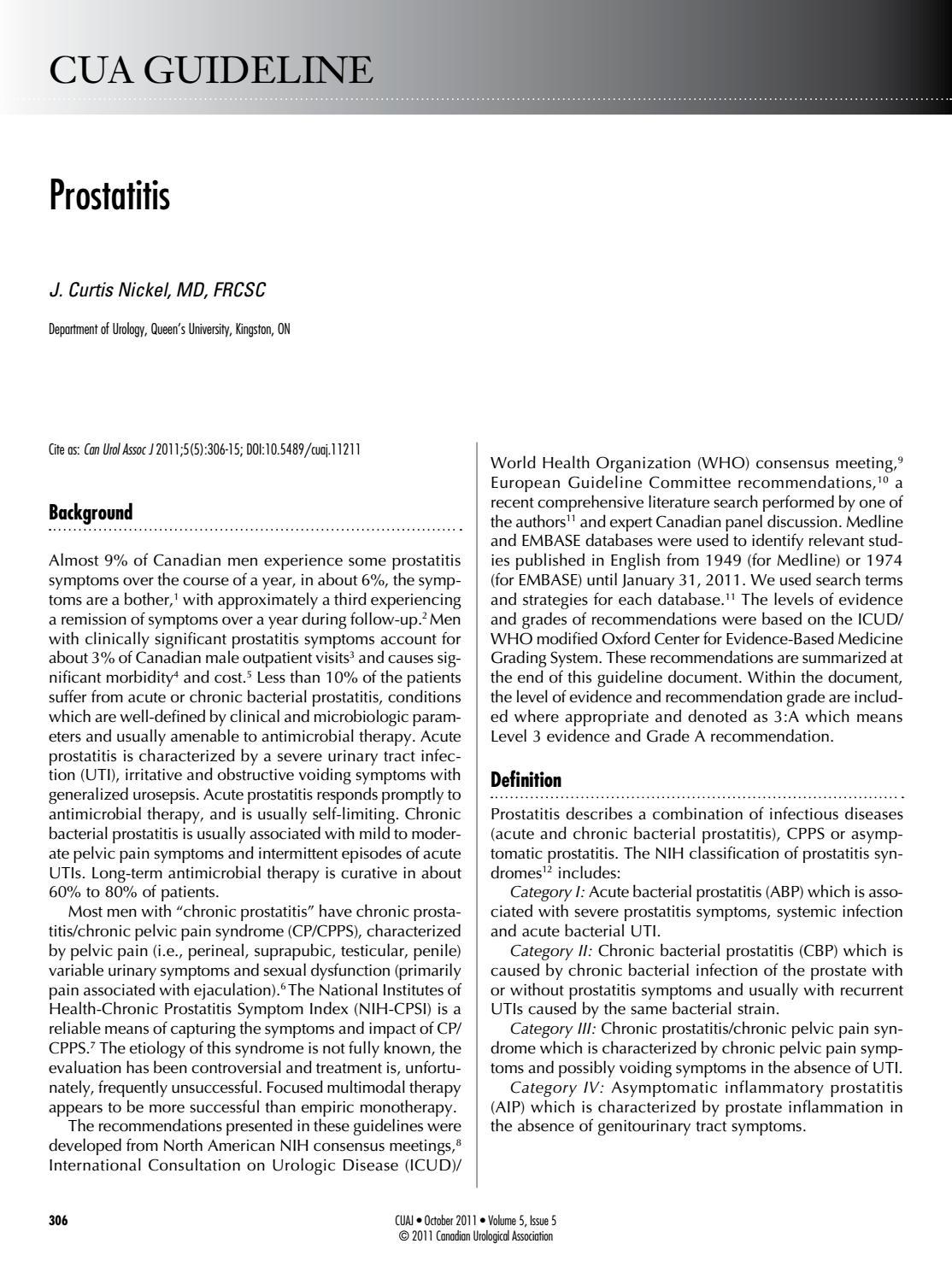 Nyálka a vizeletben krónikus prosztatagyulladás