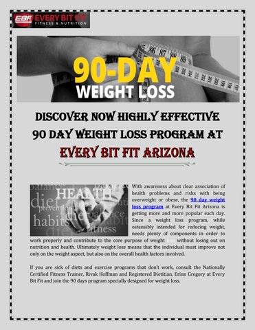 90 day weight loss plan