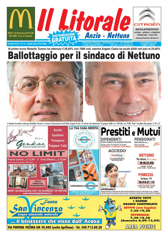 57e840fcdbe4 Il Litorale - Anno XVI - N. 12 - 16 30 Giugno 2016 by Il Pontino Il  Litorale - issuu