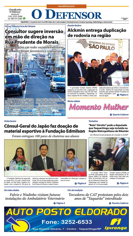 2dbd1cfe27 Jornal O Defensor 17 de junho 2016 by gabriel baglioti - issuu