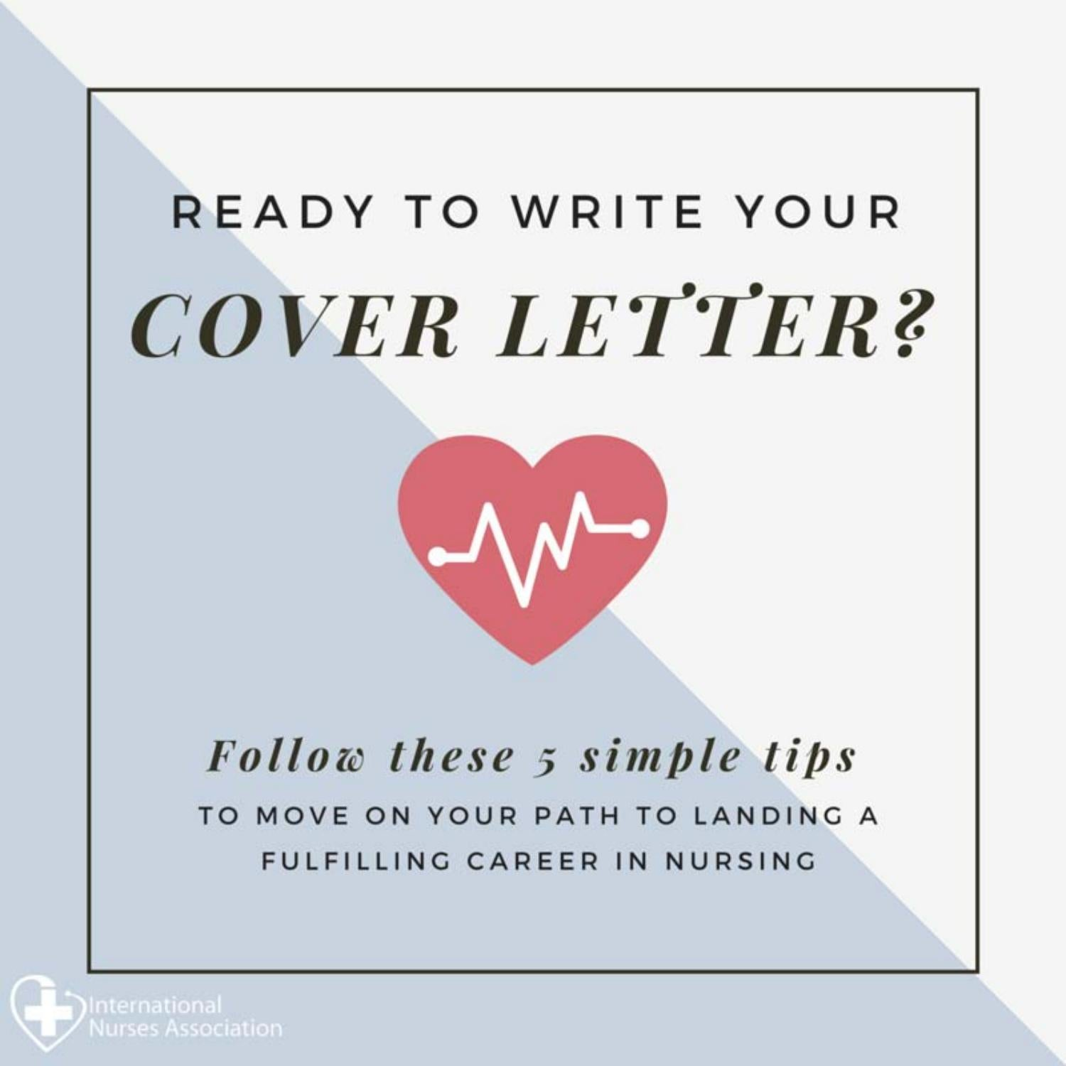 international nurses association cover letter tips by