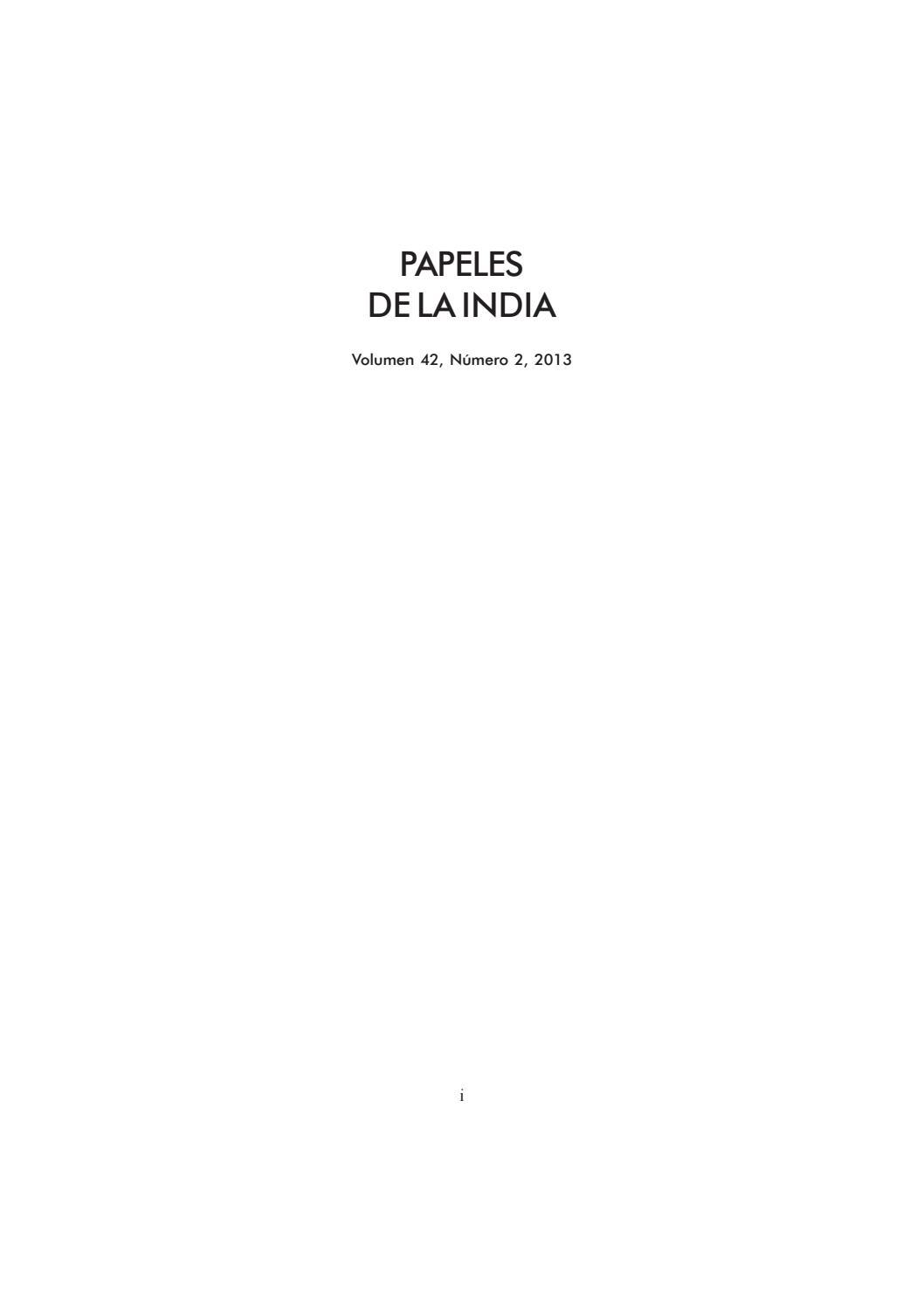 Papeles vol 42 2 2013 by Subhas USC - issuu
