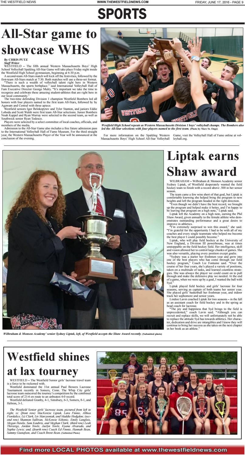 Friday, June 17, 2016 by The Westfield News - issuu