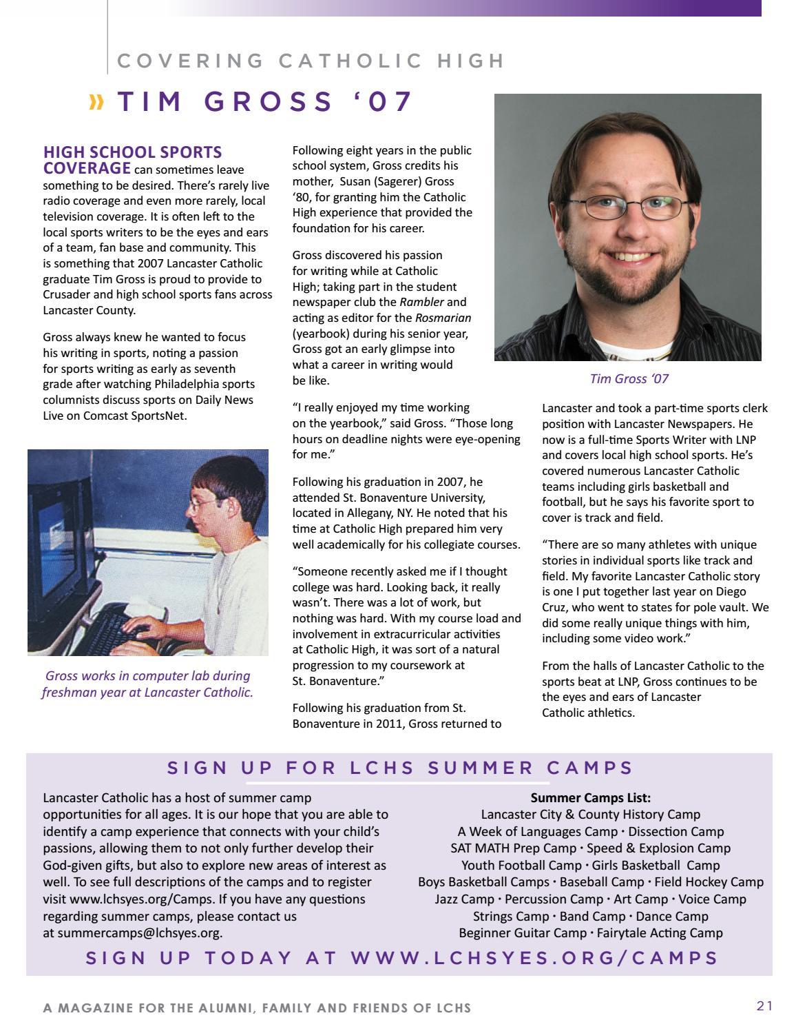 2016 Lancaster Catholic High School Spring Magazine by