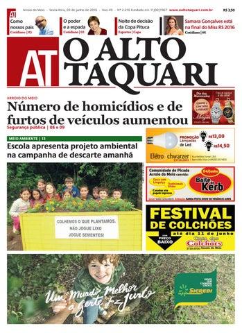 6e0b1c07be Jornal O Alto Taquari - 03 de junho de 2016 by Jornal O Alto Taquari ...
