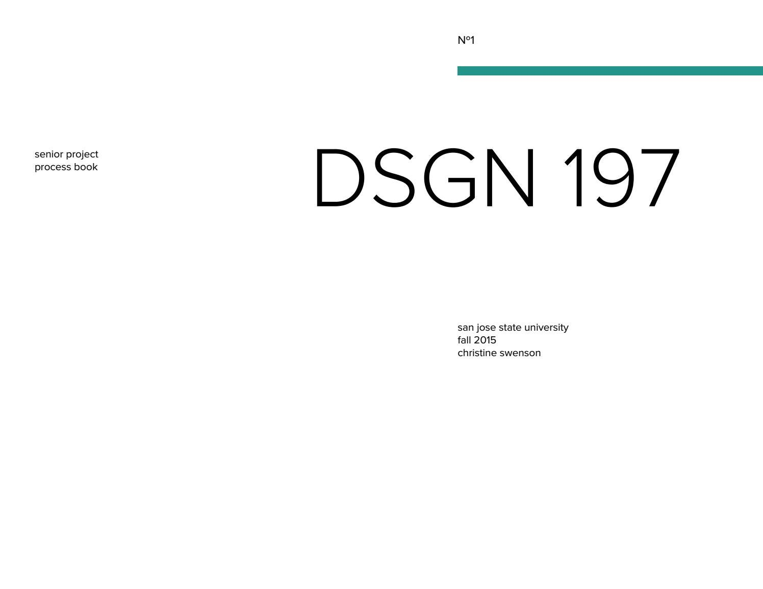 DSGN 197 Process Book by Christine Swenson - issuu