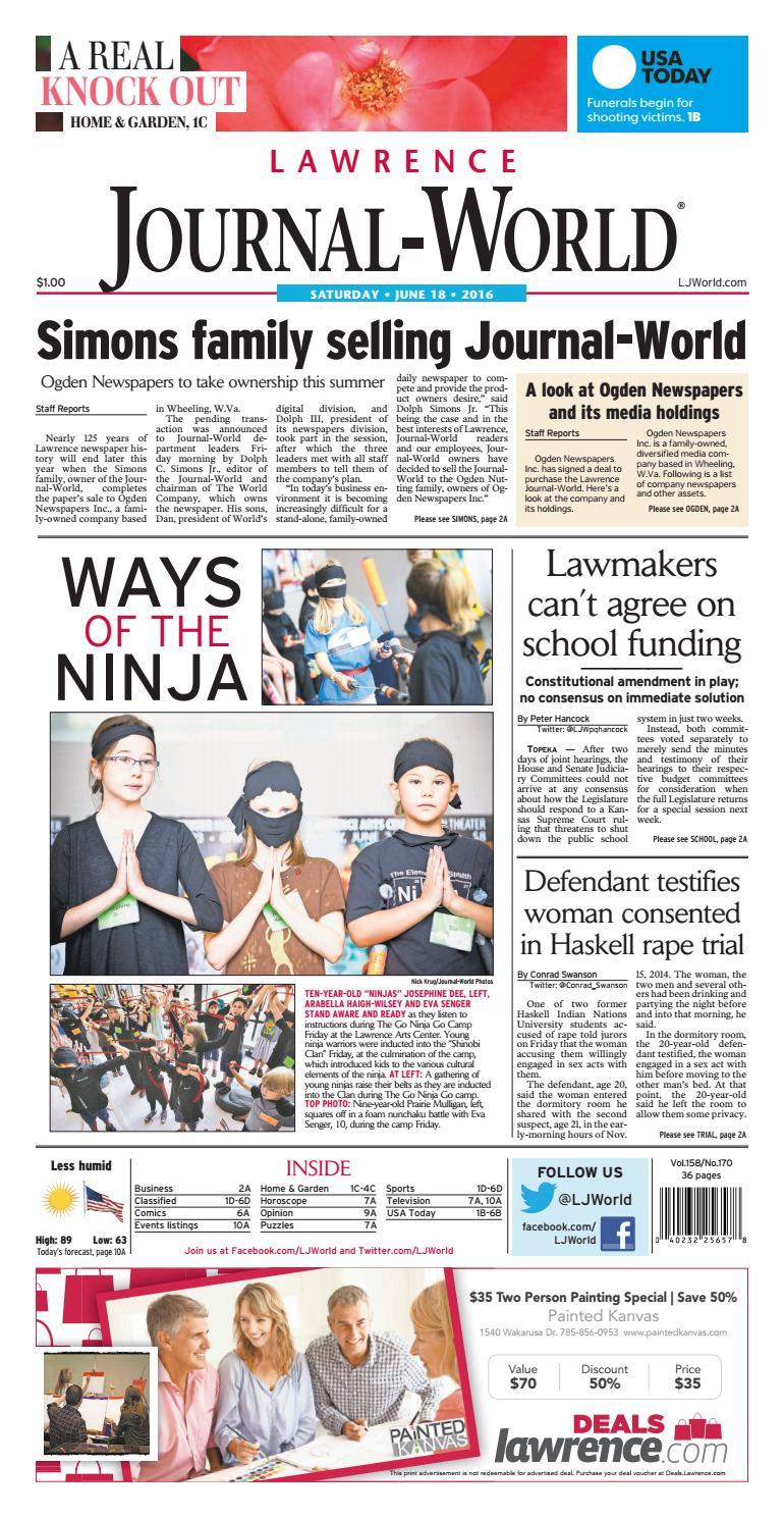 Lawrence Journal-World 06-18-2016 by Lawrence Journal-World - issuu