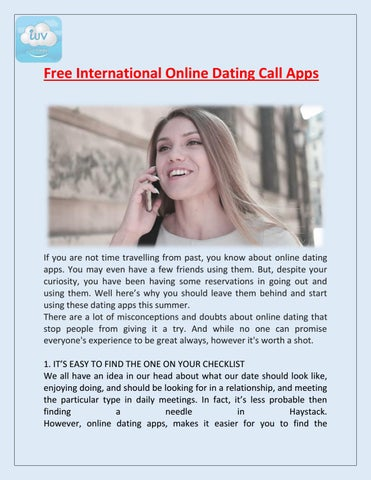 free international dating apps