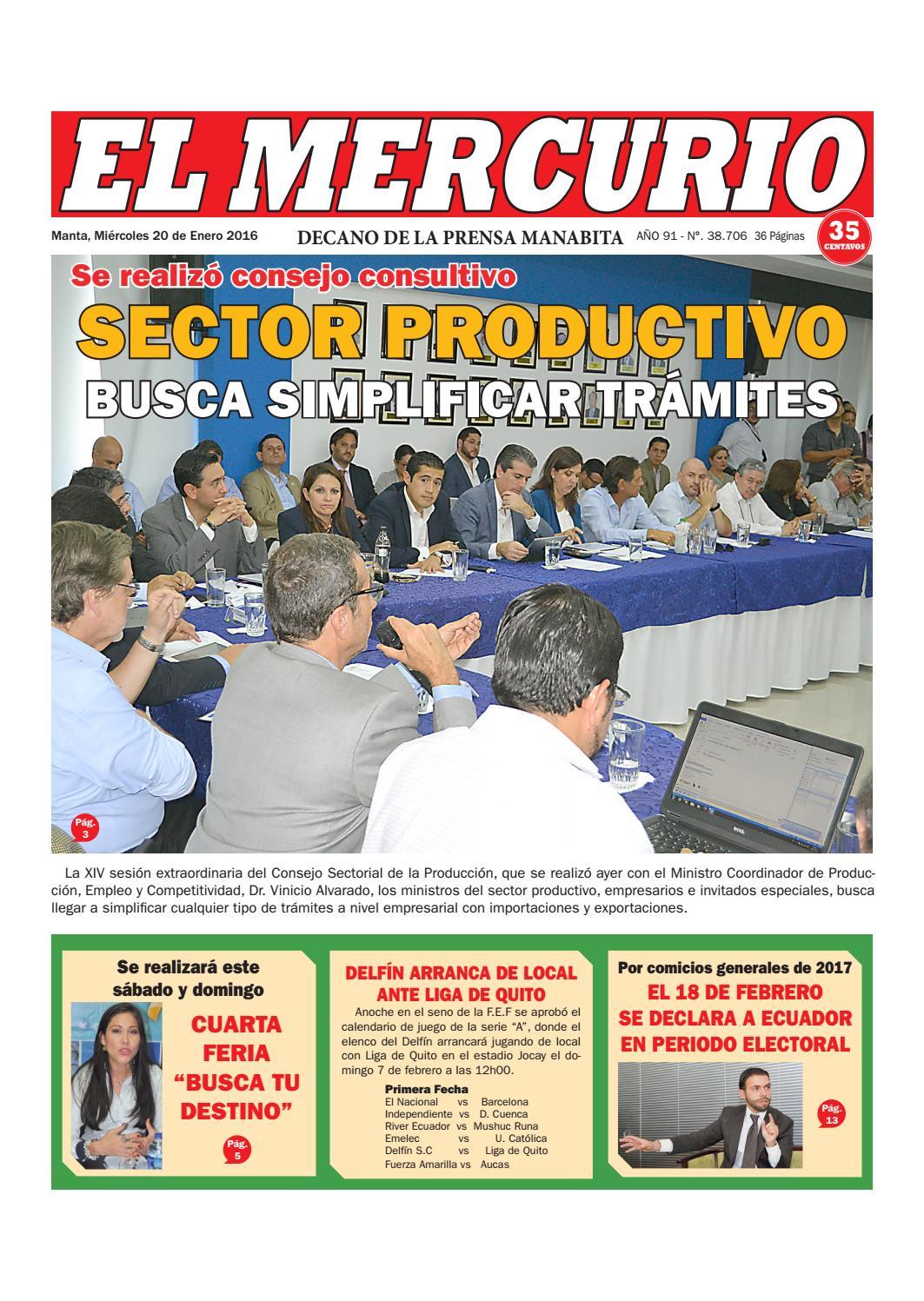 Martes 20 de enero del 2016 by Diario El mercurio - issuu