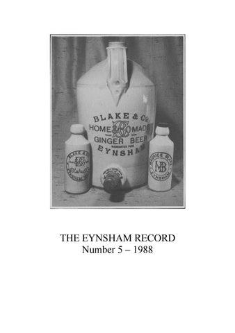 Eynsham Record 1988 By Eynsham Record Issuu