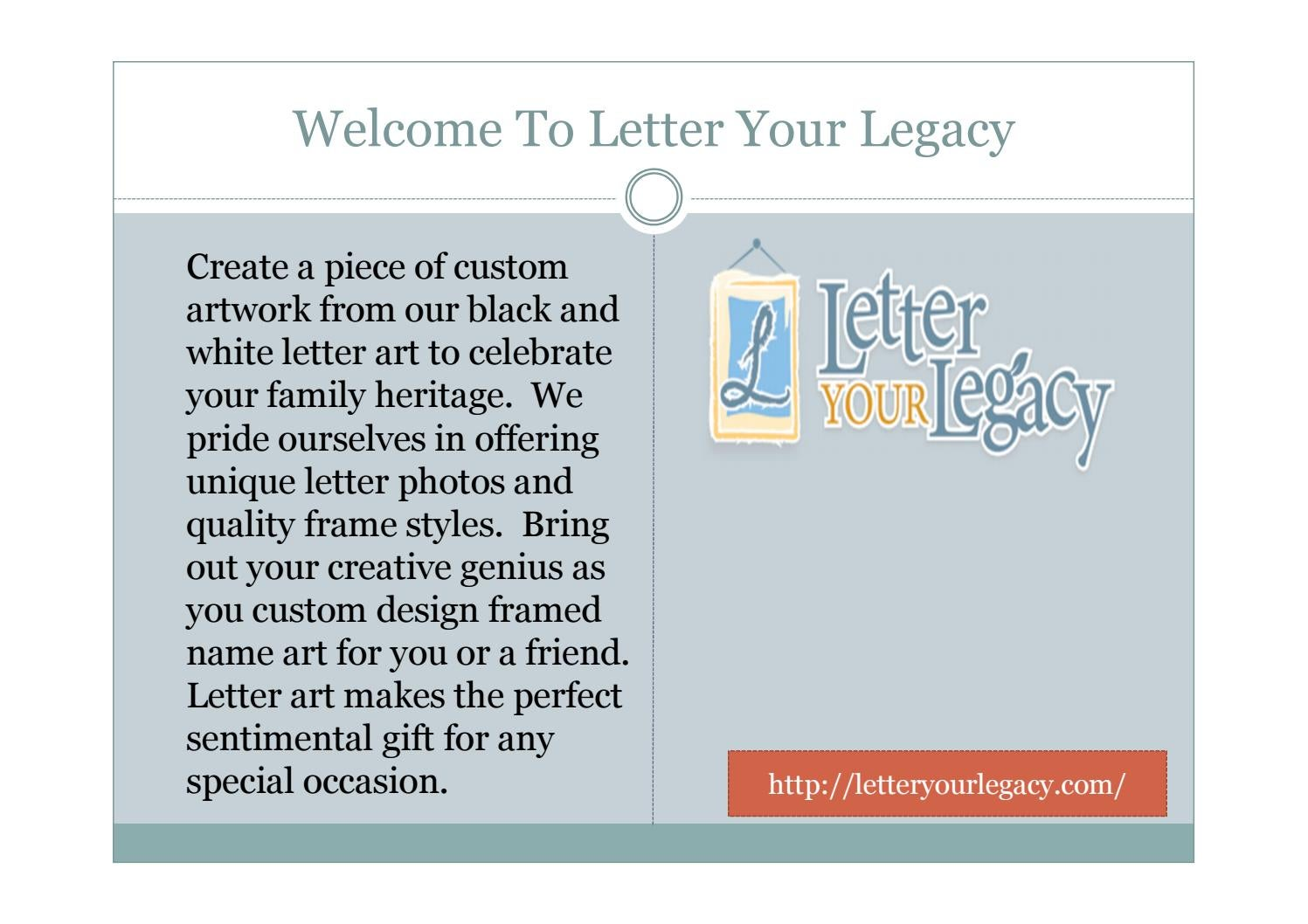 Letter Your Legacy Custom Letter Art By Amalie Benjamin  Issuu