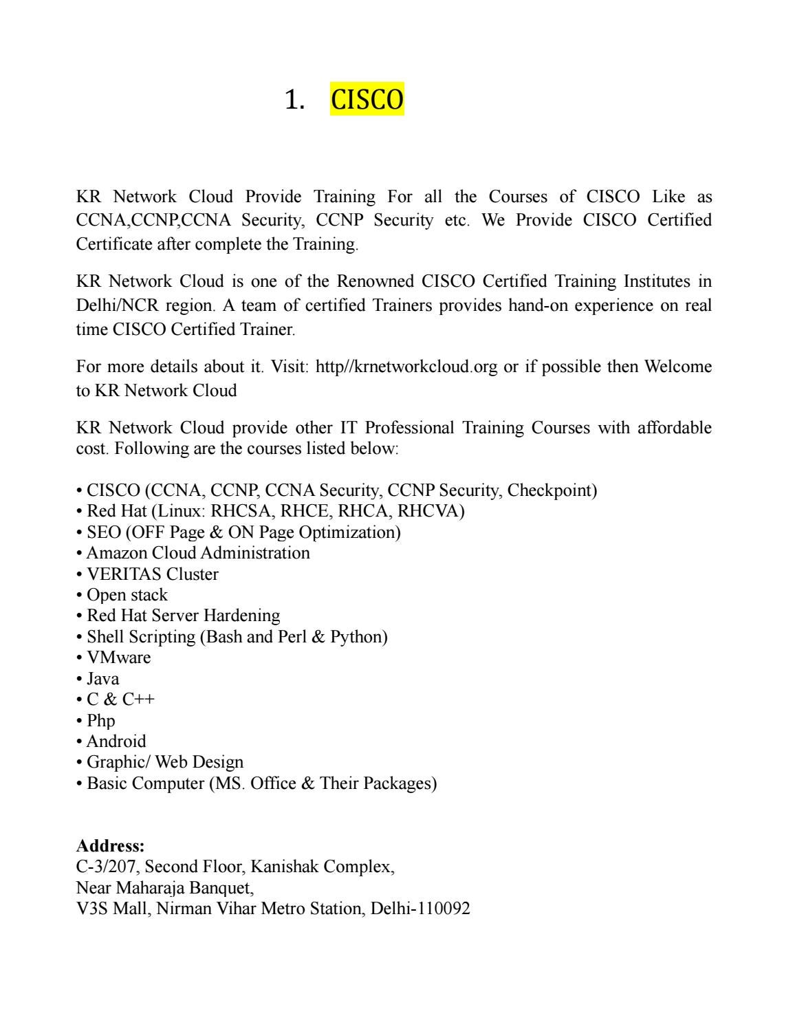 Cisco 2 By Krnetwork Cloud Issuu