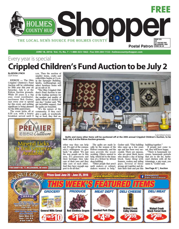 Holmes County Hub Shopper, June 18, 2016 by GateHouse Media NEO - issuu