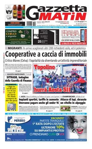 Gazzetta Matin del 20 giugno 2016 by NewsVDA - issuu dbf05deebcd