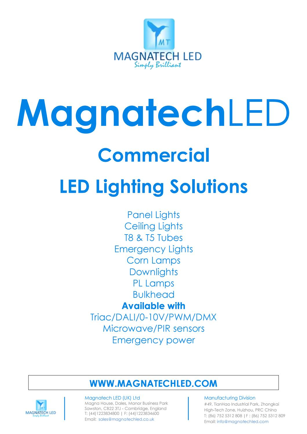 Magnatech Led Product Brochure By Issuu Driver Powers Halogen Replacement