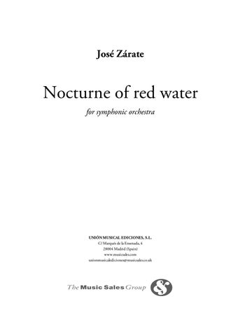 Zárate NOCTURNE OF RED WATER by ScoresOnDemand - issuu