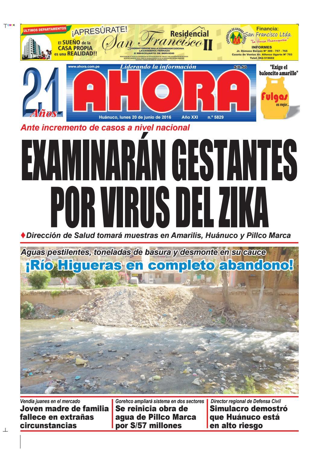 Edición diario ahora 20 06 2016 by Diario Ahora Huánuco - issuu