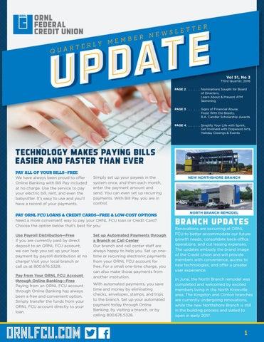 Ornlfcu Update Vol 51 No 3 By Ornl Federal Credit Union Issuu