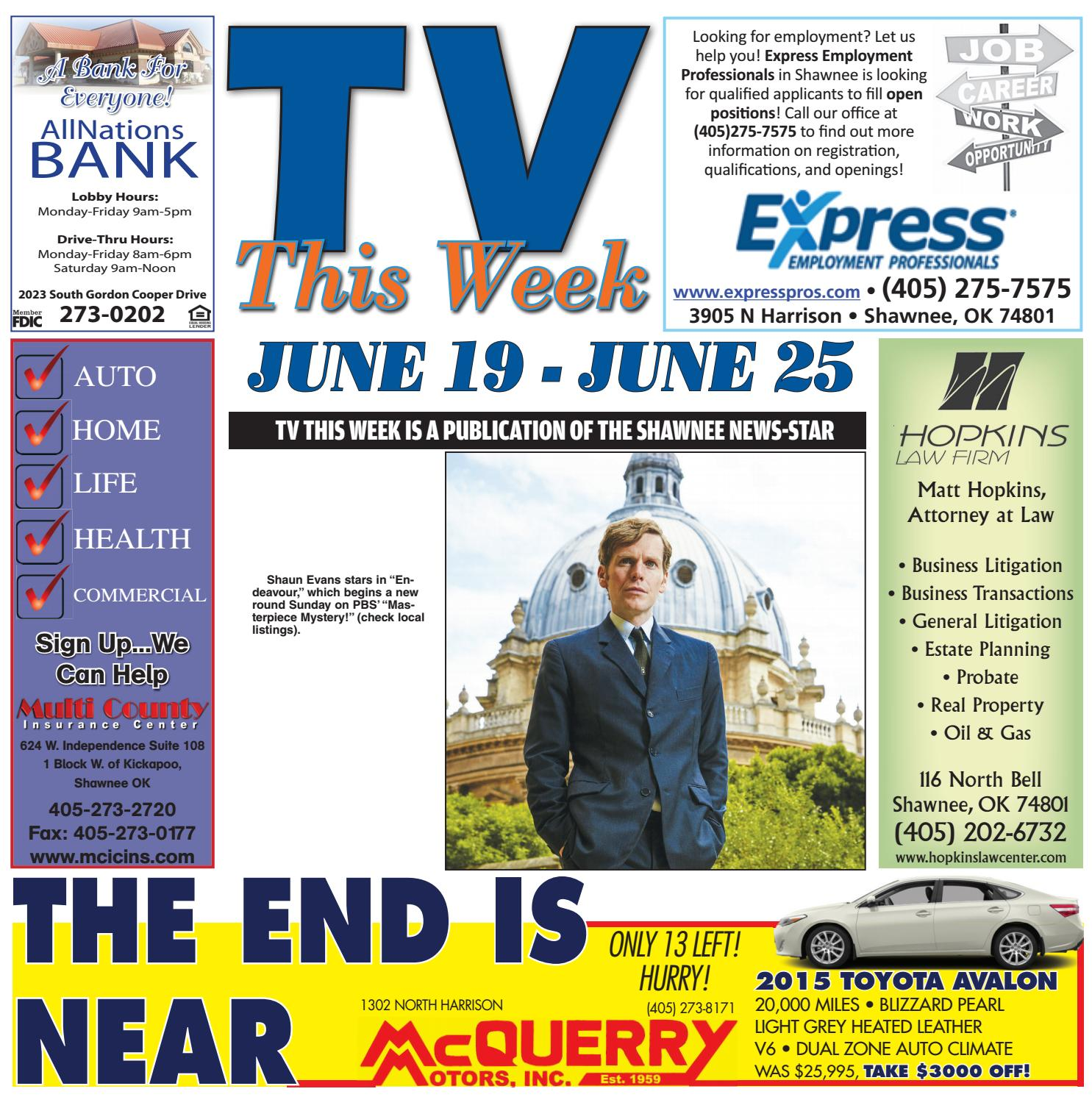 ccd36e88668a 6 19 tv this week new by Shawnee News-Star - issuu