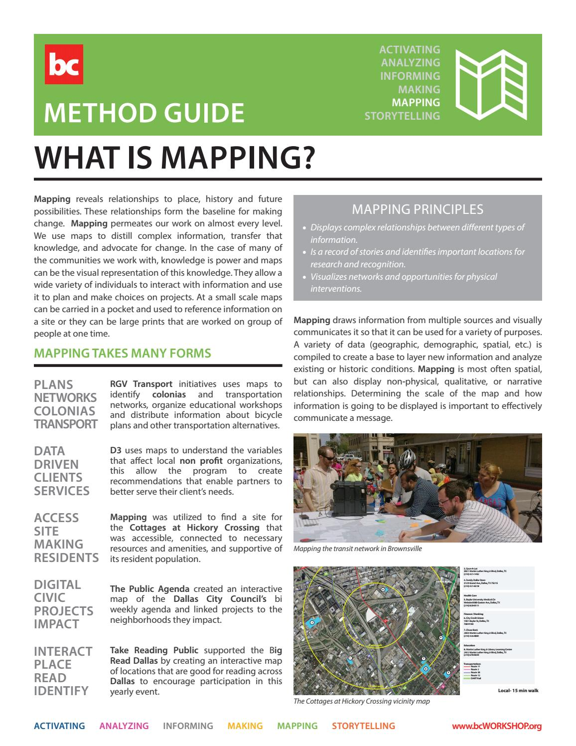 Method Guide Mapping by building munityWORKSHOP issuu