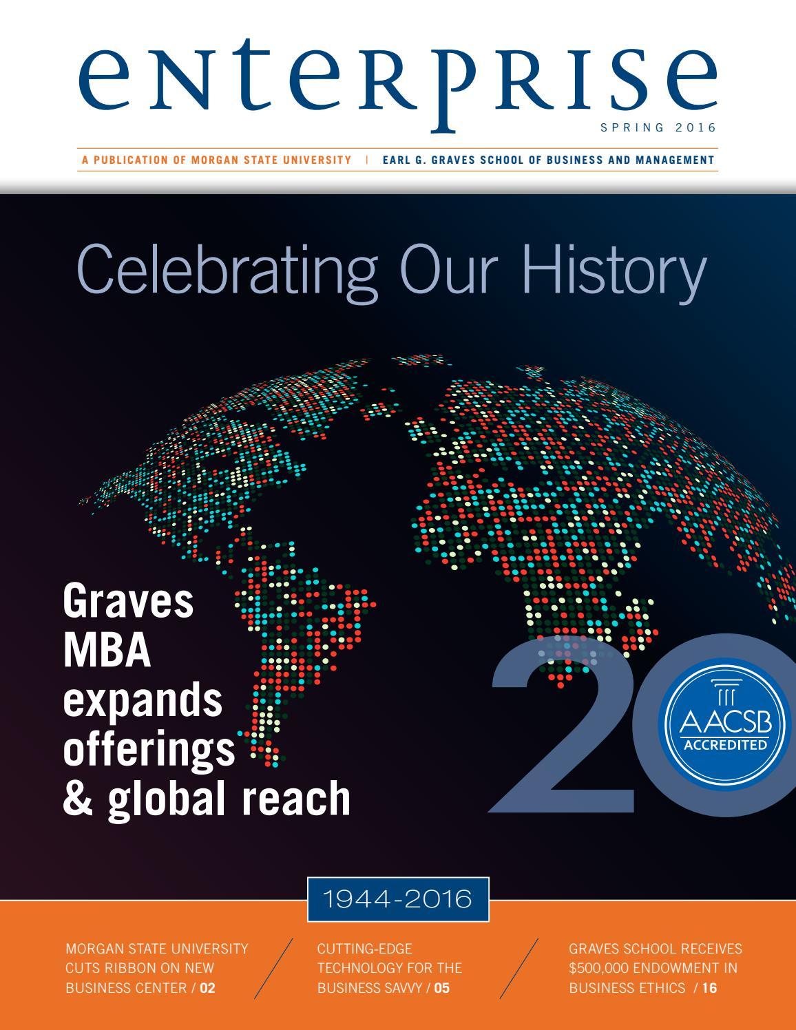 Enterprise Magazine - 2016 Issue by Morgan State University - issuu