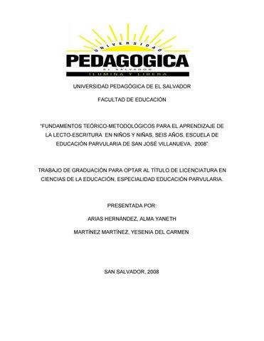 Fundamentos Teórico Metodológicos Para El Aprendizaje De By