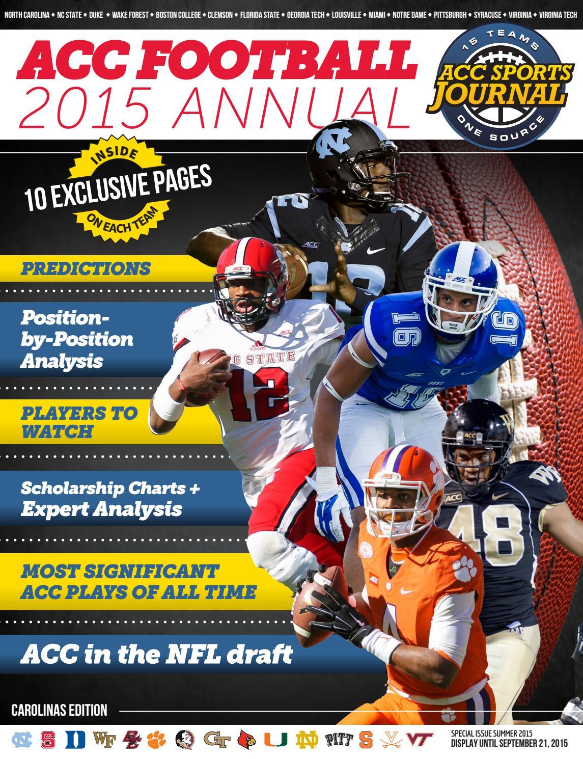 ACC Football - 2015 Annual by Greg de Deugd - issuu