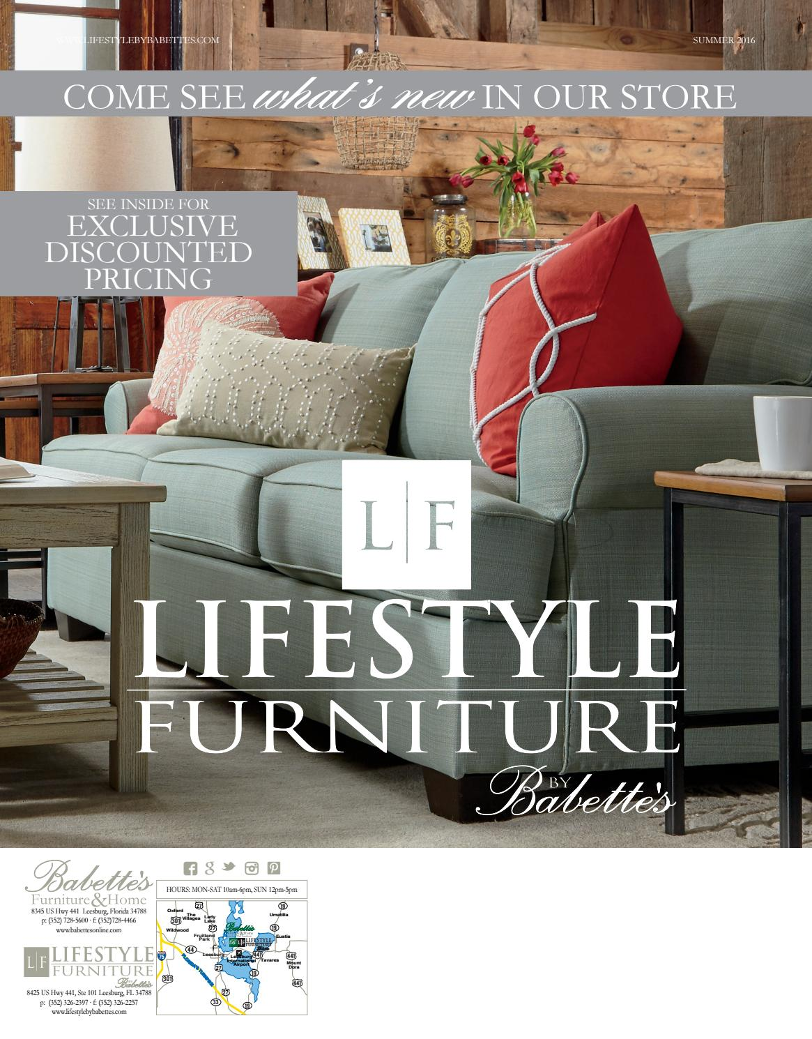 Lifestyle Furniture By Babette 39 S Catalog Summer 2016 By Babette 39 S Furniture Home Issuu