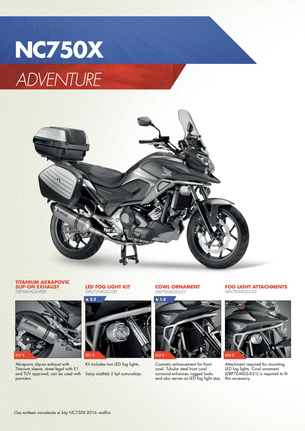 Hme Accessories Brochure Nc750x By Oy Otto Brandt Ab Issuu