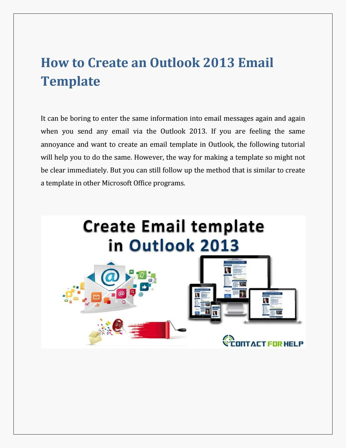 create an email template in outlook 2013 by lisa heydon issuu. Black Bedroom Furniture Sets. Home Design Ideas